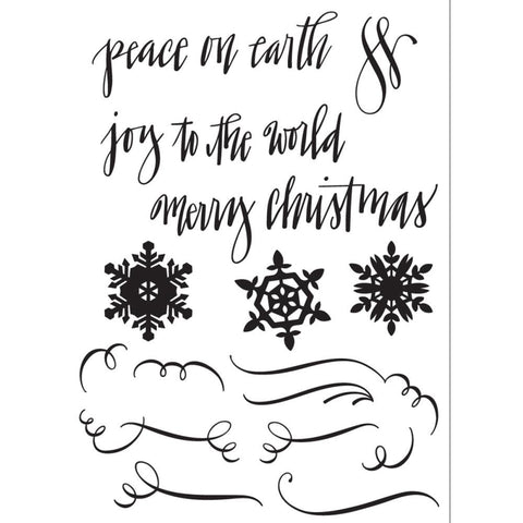 Sizzix Stamp Set - Seasonal Caligraphy