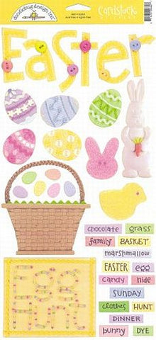 Doodlebug Design Cardstock Stickers - Easter Icons