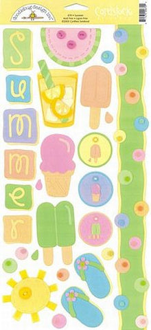 Doodlebug Design Cardstock Stickers - Summer
