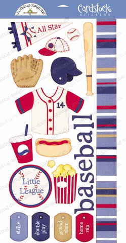 Doodlebug Design Cardstock Stickers - Baseball