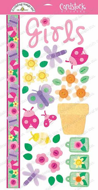 Doodlebug Design Cardstock Stickers - Bloomin' Bugs