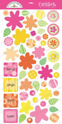 Doodlebug Design Cardstock Stickers - Pick-a-Posie - Popsicle