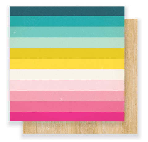 Crate Paper Papers - Cute Girl - Rainbows - 2 Sheets
