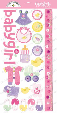 Doodlebug Design Cardstock Stickers - Baby Girl