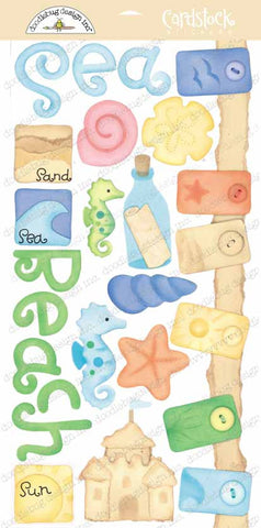 Doodlebug Design Cardstock Stickers - Day at the Beach