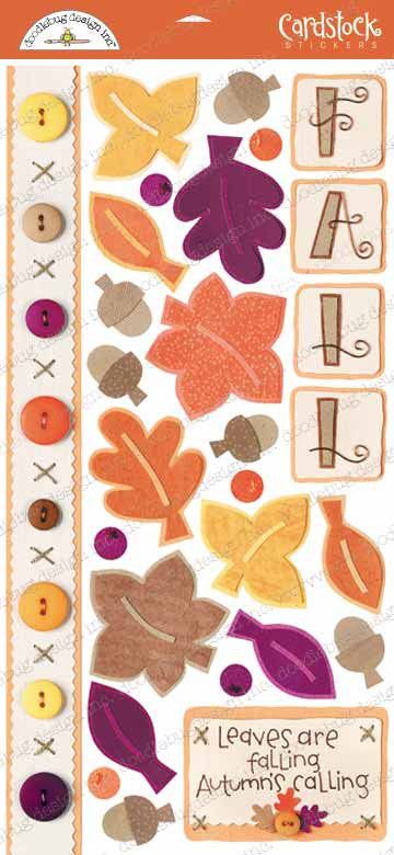 Doodlebug Design Cardstock Stickers - Shades of Fall