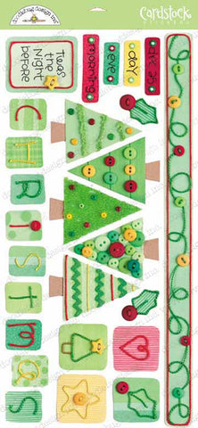 Doodlebug Design Cardstock Stickers - O' Christmas Tree