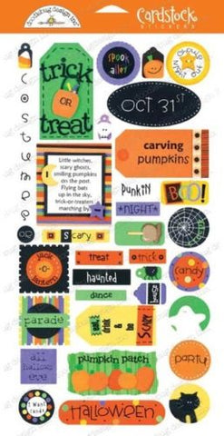 Doodlebug Design Cardstock Stickers - Fright Night