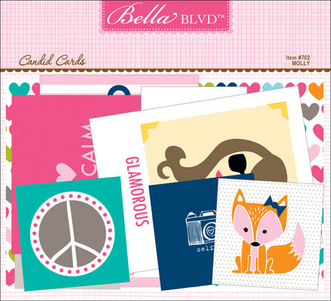 Bella Blvd Candid Cards Die Cut Pack - Molly