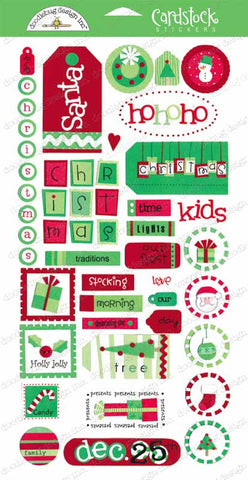 Doodlebug Design Cardstock Stickers - Holly Jolly Christmas