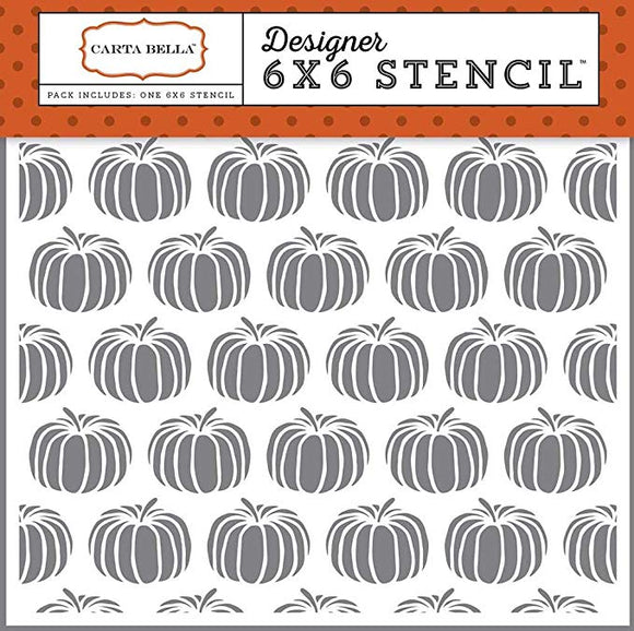 Carta Bella 6x6 Stencil - Haunted - Pumpkins