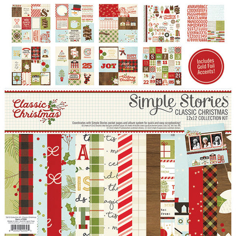 Simple Stories Collection Kit - Classic Christmas