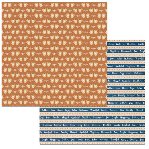 Bo Bunny Papers - Stay Awhile - Coffee - 2 Sheets