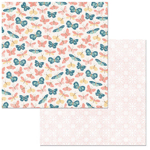 Bo Bunny Papers - Early Bird - Flutter - 2 Sheets