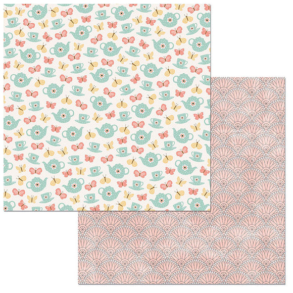 Bo Bunny Papers - Early Bird - Tea Time - 2 Sheets