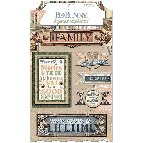 Bo Bunny Layered Chipboard - Once Upon a Lifetime
