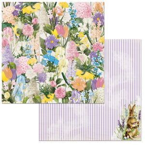 Bo Bunny Papers - Cottontail - Flowers - 2 Sheets