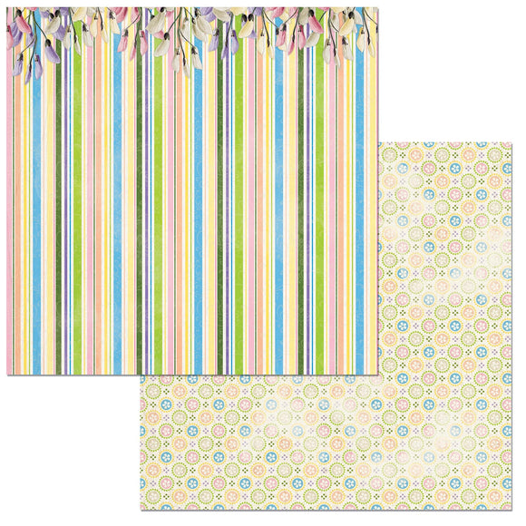 Bo Bunny Papers - Cottontail - Happy - 2 Sheets