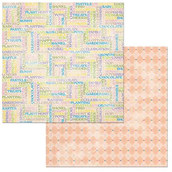 Bo Bunny Papers - Cottontail - Pastels - 2 Sheets