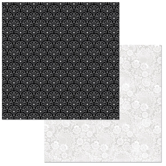 Bo Bunny Papers - Black Tie Affair - Diamonds - 2 Sheets