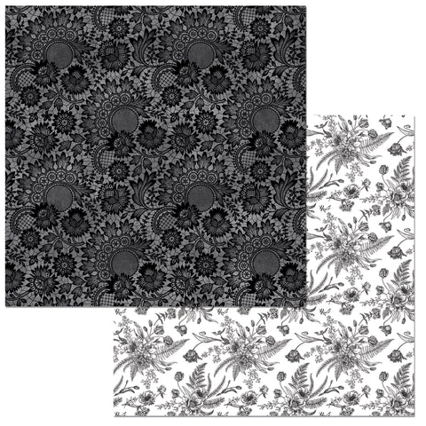 Bo Bunny Papers - Black Tie Affair - Lace - 2 Sheets