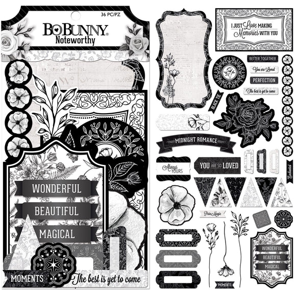 Bo Bunny Noteworthy Die-Cuts - Black Tie Affair