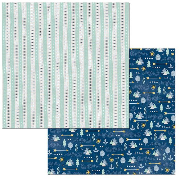 Bo Bunny Papers - Little Wonders - Evan - 2 Sheets