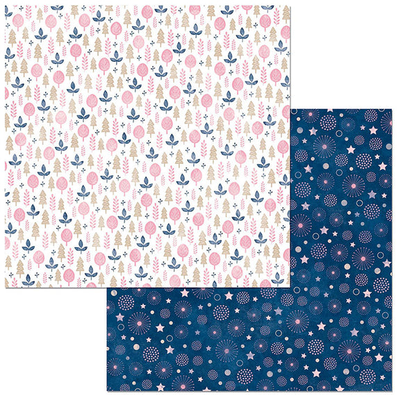Bo Bunny Papers - Little Wonders - Willow - 2 Sheets