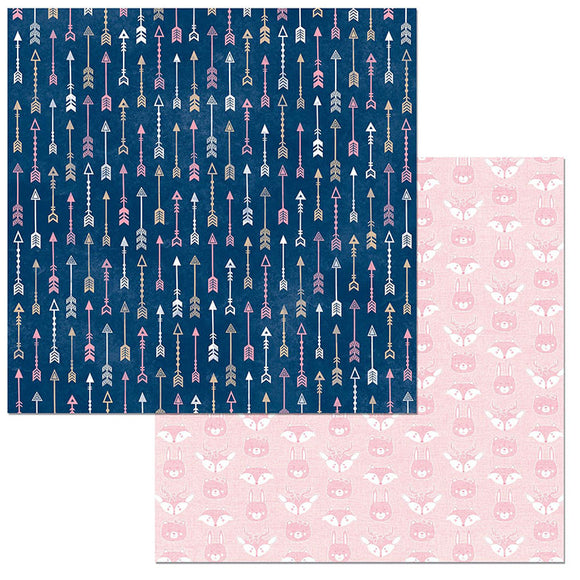Bo Bunny Papers - Little Wonders - Zoey - 2 Sheets