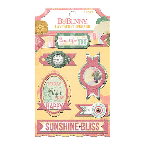 Bo Bunny Layered Chipboard - Sunshine Bliss