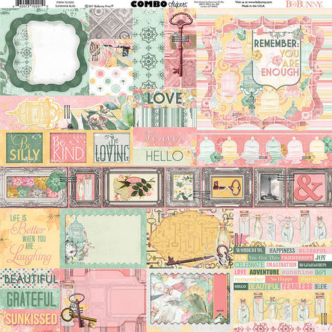 Bo Bunny Cardstock 12x12 Combo Stickers - Sunshine Bliss