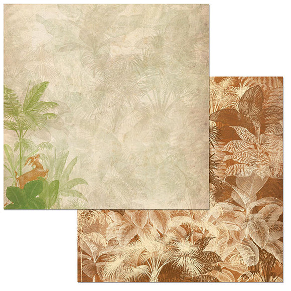 Bo Bunny Papers - Jungle Life - Canopy - 2 Sheets