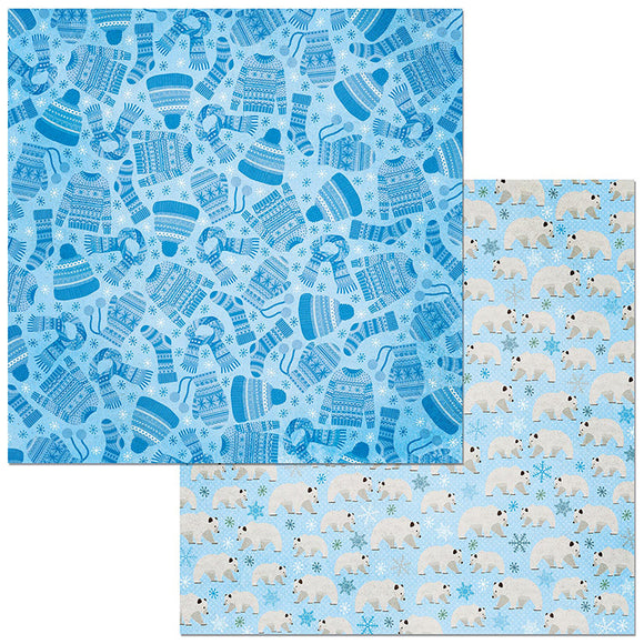 Bo Bunny Papers - Winter Getaway - Scarf - 2 Sheets