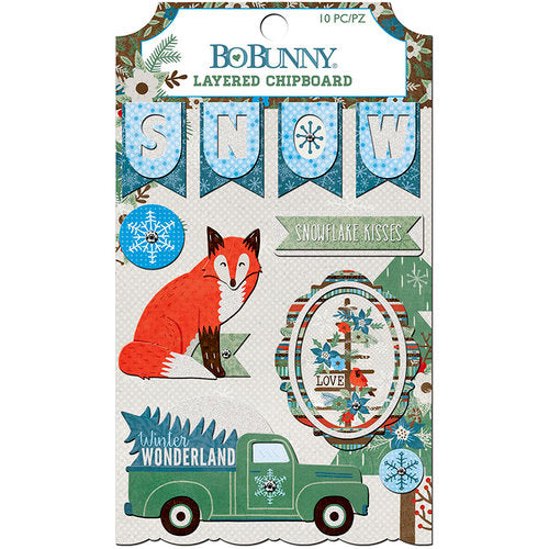 Bo Bunny Layered Chipboard - Winter Getaway