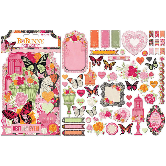Bo Bunny Noteworthy Die-Cuts - Sweet Clementine