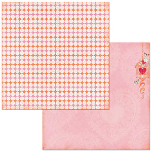 Bo Bunny Papers - Sweet Clementine - Charisma - 2 Sheets