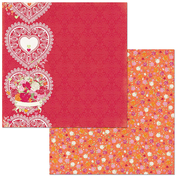 Bo Bunny Papers - Sweet Clementine - Delight - 2 Sheets