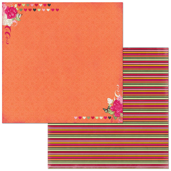 Bo Bunny Papers - Sweet Clementine - Kindness - 2 Sheets