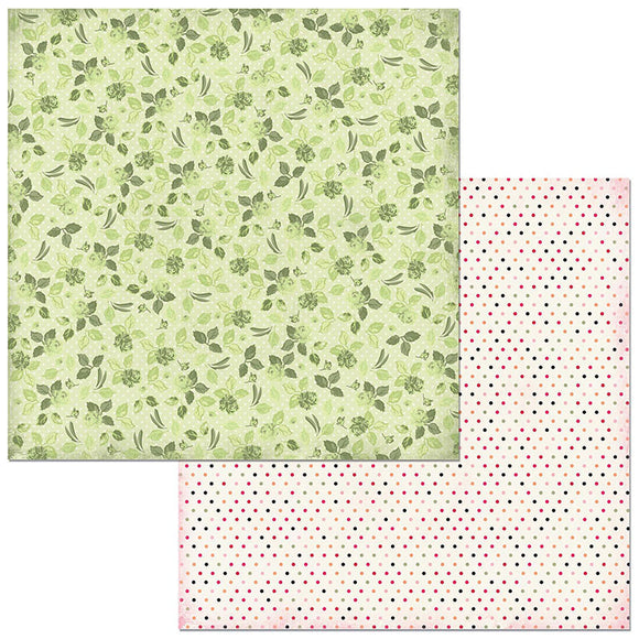 Bo Bunny Papers - Sweet Clementine - Roses- 2 Sheets