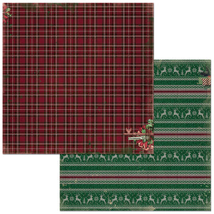 Bo Bunny Papers - Christmas Treasures - Sweater - 2 Sheets