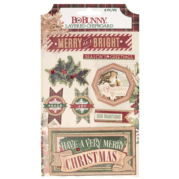 Bo Bunny Layered Chipboard - Christmas Treasures