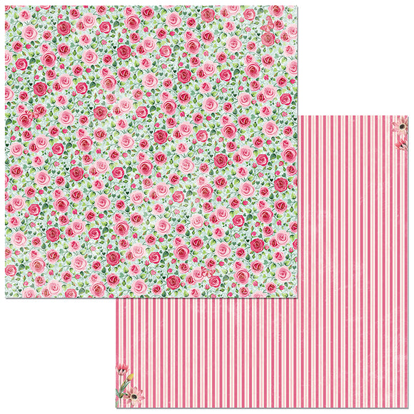 Bo Bunny Papers - Count the Ways - Darling - 2 Sheets