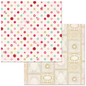 Bo Bunny Papers - Count the Ways - Kisses - 2 Sheets