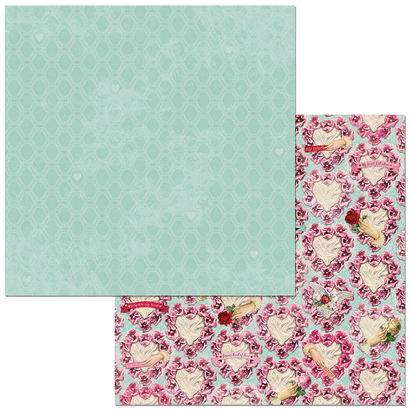 Bo Bunny Papers - Count the Ways - Forever - 2 Sheets