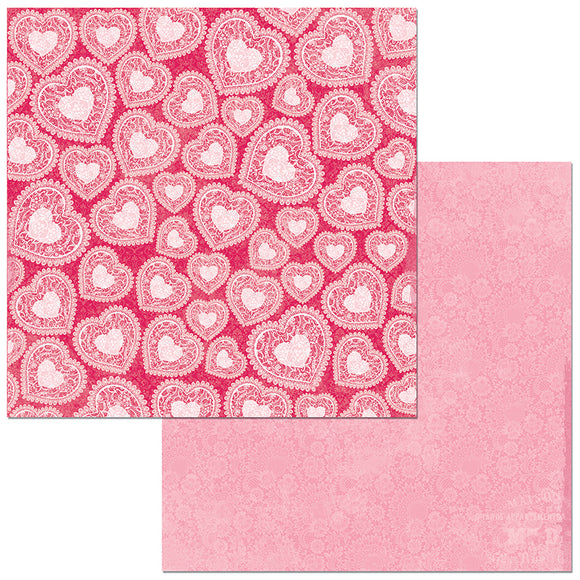Bo Bunny Papers - Count the Ways - Valentine - 2 Sheets