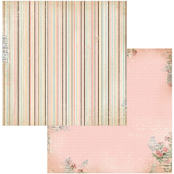 Bo Bunny Papers - Family Heirlooms - Lineage - 2 Sheets