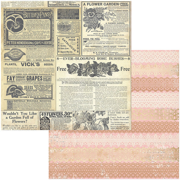 Bo Bunny Papers - Botanical Journal - Catalog - 2 Sheets