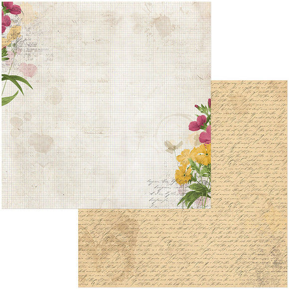 Bo Bunny Papers - Botanical Journal - Notebook - 2 Sheets