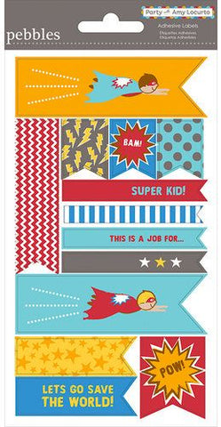 Pebbles Cardstock Stickers - Hero Labels