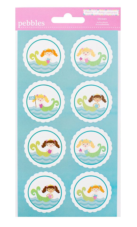 Pebbles Cardstock Stickers - Mermaid - Circle Accents